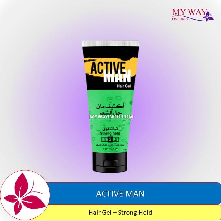 Active Man Hair Gel Strong Hold Minyak Rambut Pria My Way