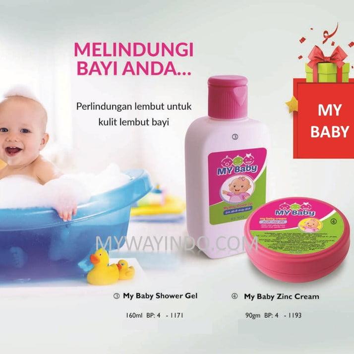 My Baby Shower Gel-Zinc-Cream- Jual Sabun Mandi Bayi Produk MyWay Original