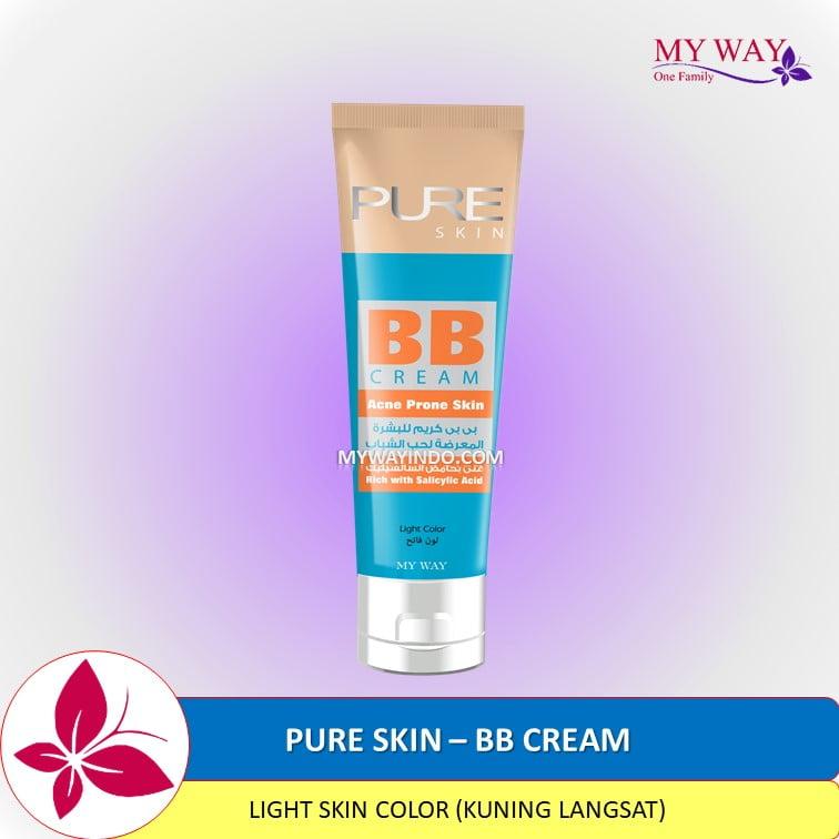 PURE SKIN - BB Cream Krim Wajah Anti Penghilang Jerawat Ampuh, Acne Prone MyWay Indonesia
