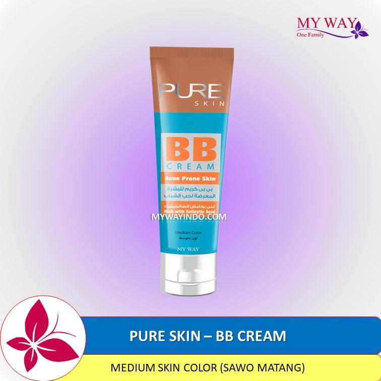 Harga PURE SKIN - BB Cream Krim Wajah Anti Penghilang Jerawat Ampuh, Acne Prone MyWay Indonesia