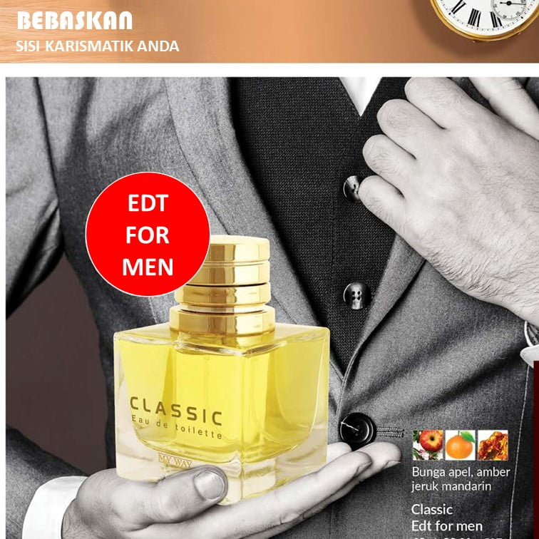 Parfum CLASSIC - EDT untuk Pria My Way Arab Mesir Murah
