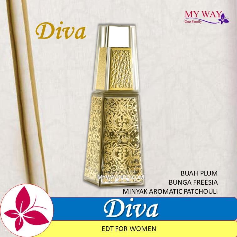 Parfum DIVA-EDT Woman Arab Plum-Patchouli-Bunga Freesia