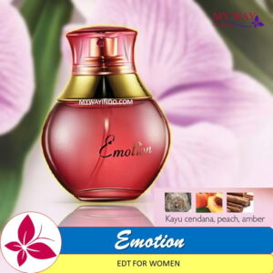 Jual Parfum EMOTION-EDT Wanita My Way Aroma Peach Amber Cendana