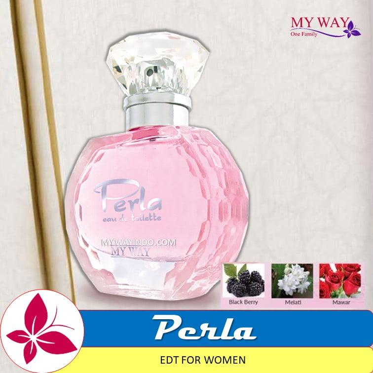 Parfum PERLA- EDT Wanita My Way Aroma Blackberry Melati Mawar