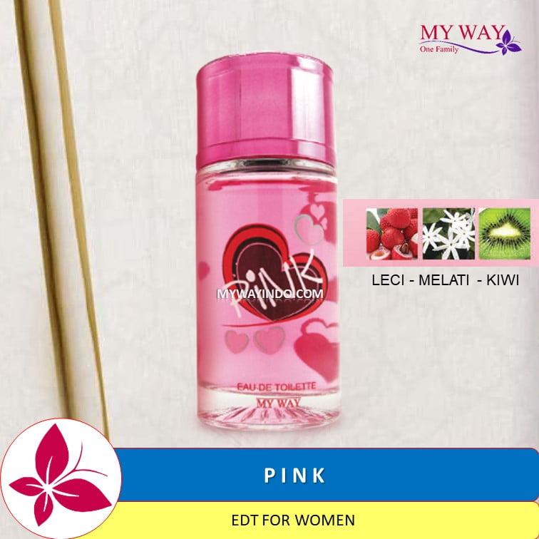 Parfum PINK - EDT Wanita My Way Aroma Kiwi Melati Leci